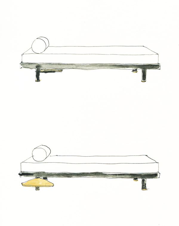 Pean Prouve and Charlotte Perriand day bed Antony